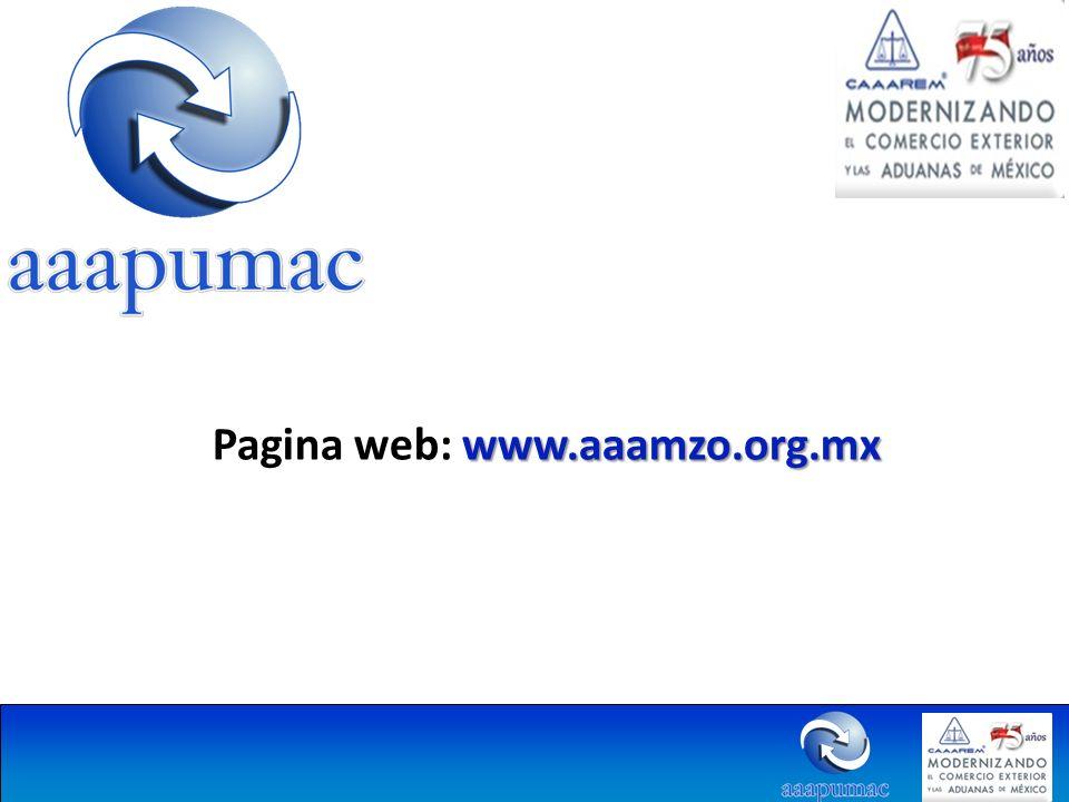www.aaamzo.org.mx Pagina web: www.aaamzo.org.mx