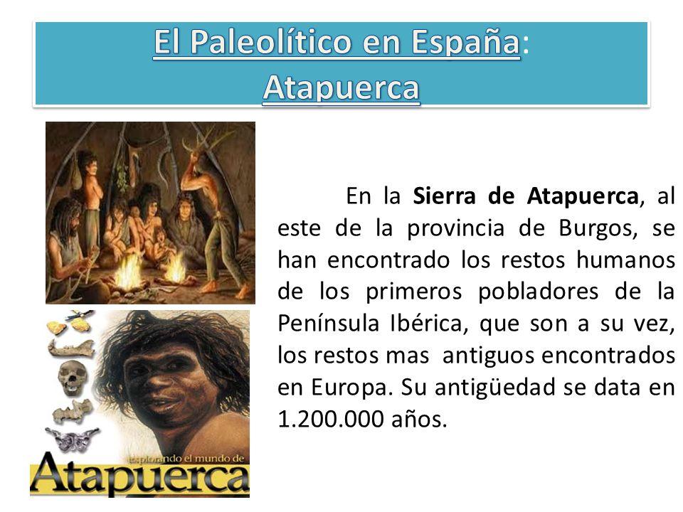 En la Sierra de Atapuerca, al este de la provincia de Burgos, se han encontrado los restos humanos de los primeros pobladores de la Península Ibérica,