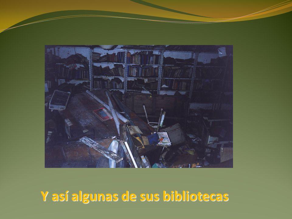 Y así algunas de sus bibliotecas