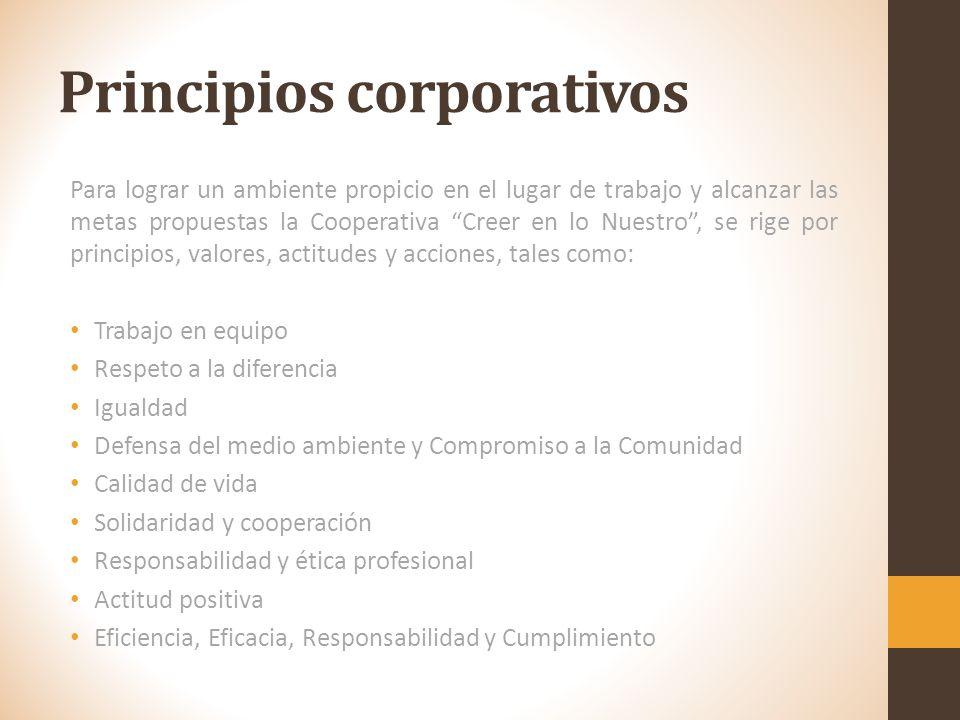 Objetivos Corporativos Garantizar los mecanismos de participación ciudadana y comunitaria establecida por la ley y sus reglamentos. Garantizar mediant