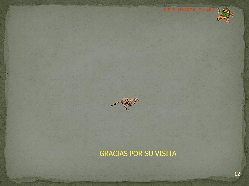 12 I.E.P.Nº2874 Ex 451 GRACIAS POR SU VISITA