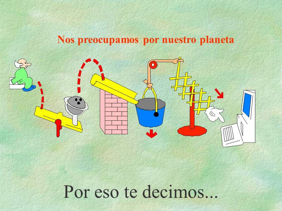 Nos preocupamos por nuestro planeta Por eso te decimos...