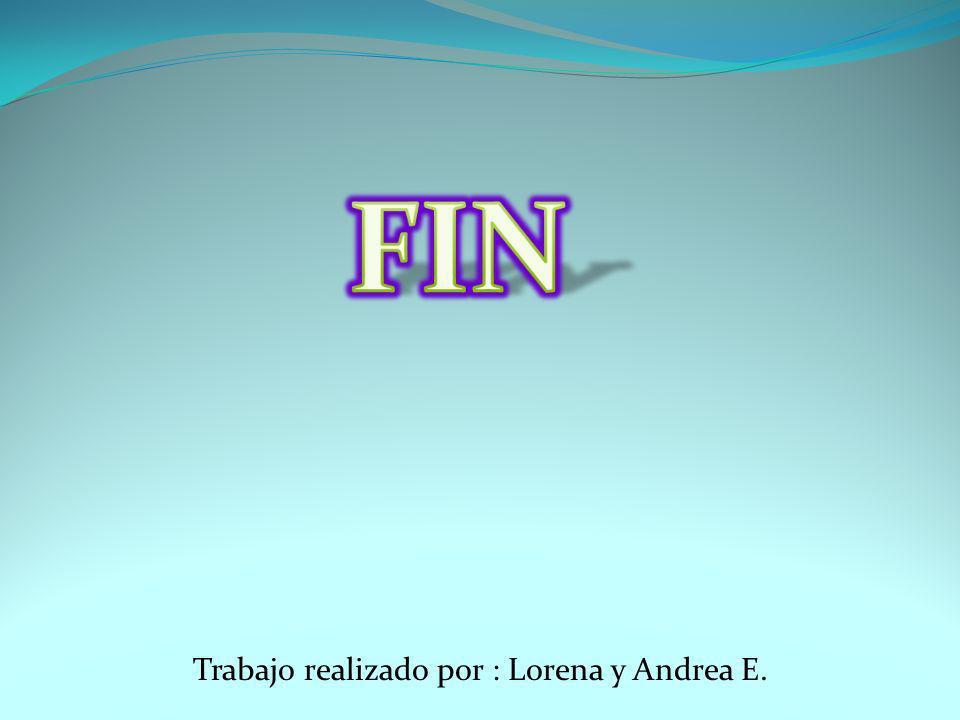 Trabajo realizado por : Lorena y Andrea E.