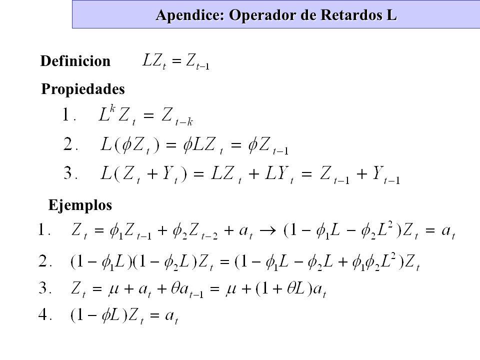 Apendice: Operador de Retardos L Definicion Propiedades Ejemplos