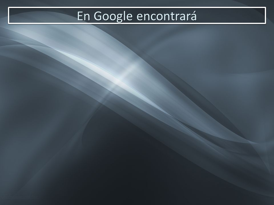 En Google encontrará