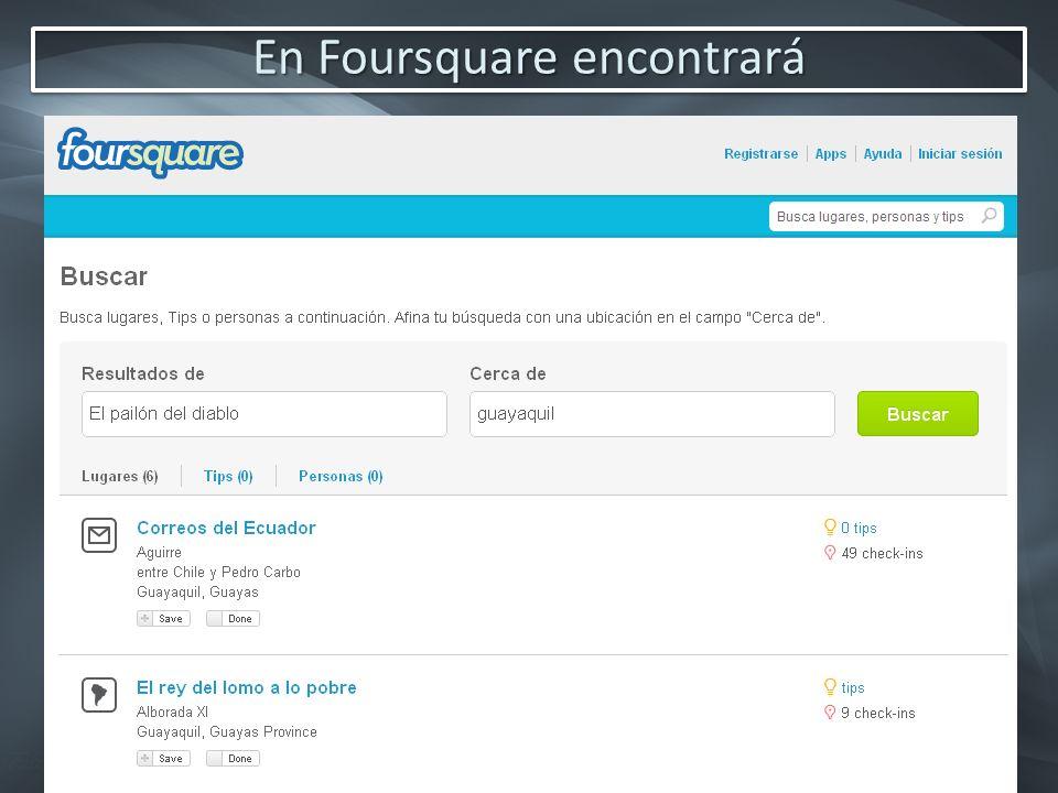 En Foursquare encontrará