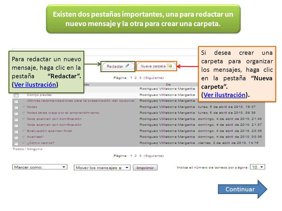 En la siguiente ventana desplegable se pueden marcar los mensajes como Leídos o No leídos, claro que previamente es necesario seleccionarlos.