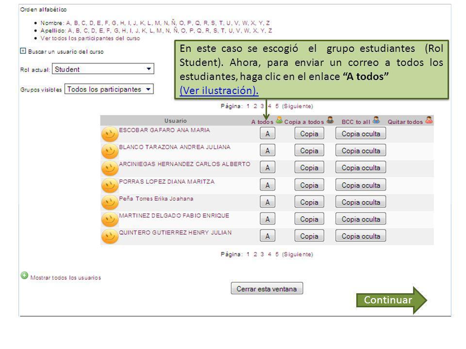 Se puede navegar de página en página para revisar todos los usuarios.