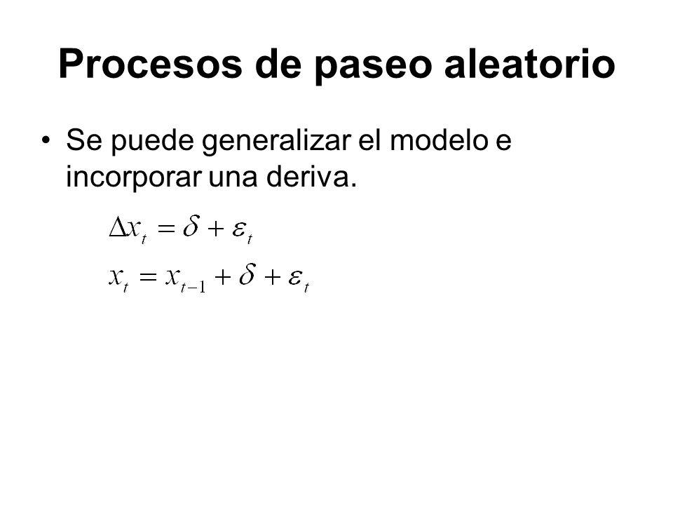 Se puede generalizar el modelo e incorporar una deriva.