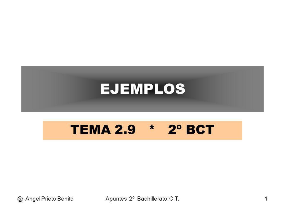 @ Angel Prieto BenitoApuntes 2º Bachillerato C.T.1 EJEMPLOS TEMA 2.9 * 2º BCT