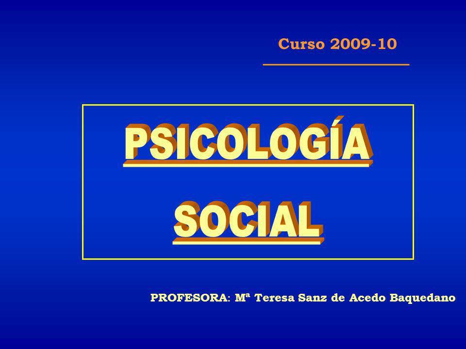 PROFESORA : Mª Teresa Sanz de Acedo Baquedano Curso 2009-10