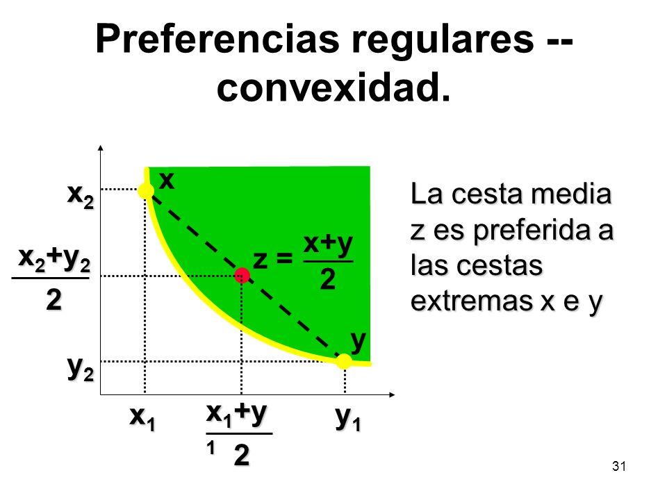 31 Preferencias regulares -- convexidad.