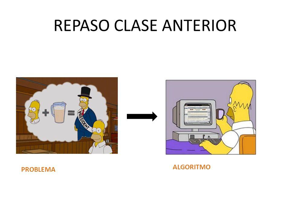 REPASO CLASE ANTERIOR PROBLEMA ALGORITMO