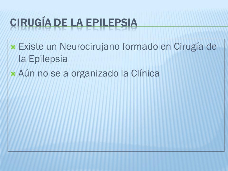 Existe un Neurocirujano formado en Cirugía de la Epilepsia Aún no se a organizado la Clínica