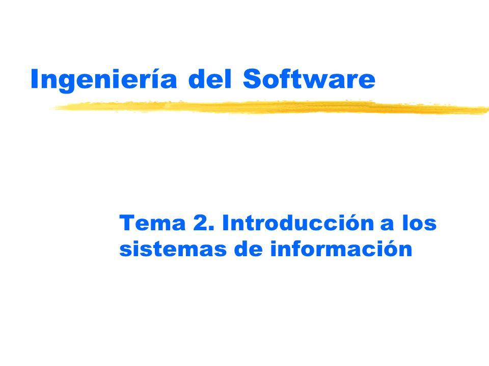 Ingeniería del Software Tema 2. Introducción a los sistemas de información