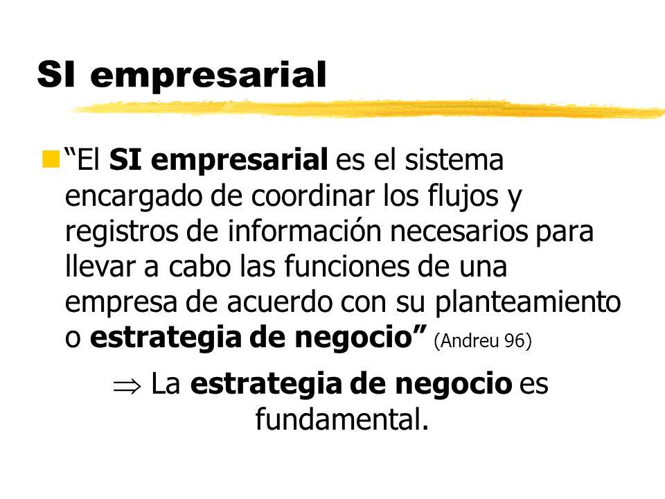 SI empresarial nEl SI empresarial es el sistema encargado de coordinar los flujos y registros de información necesarios para llevar a cabo las funcion