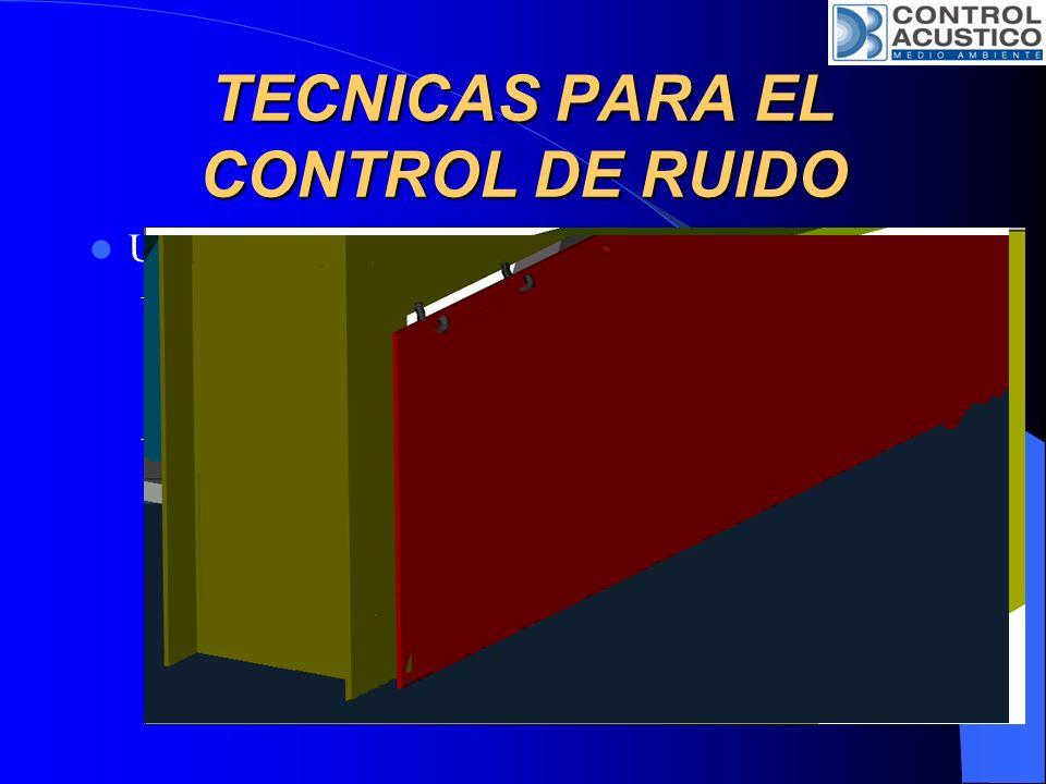Uso de Barreras Acústicas en Interiores: – Considerando una barrera que se ubica en un lugar cerrado entre el camino directo entre el equipo ruidoso y
