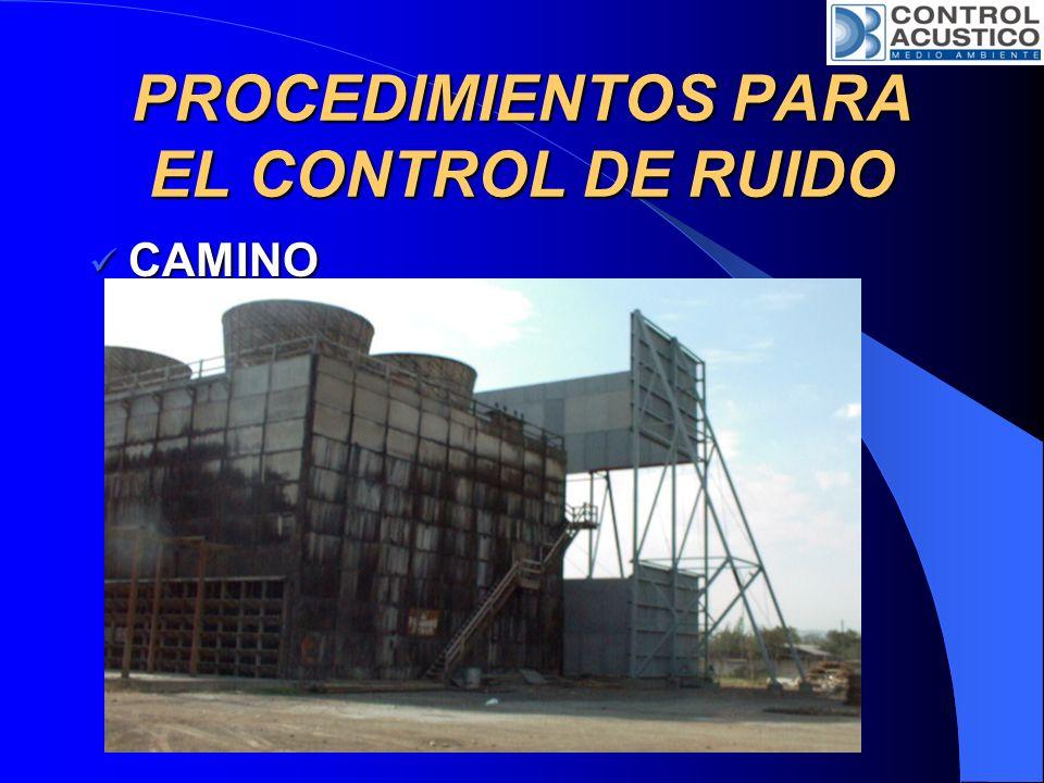 PROCEDIMIENTOS PARA EL CONTROL DE RUIDO RECEPTOR RECEPTOR Protección Personal.