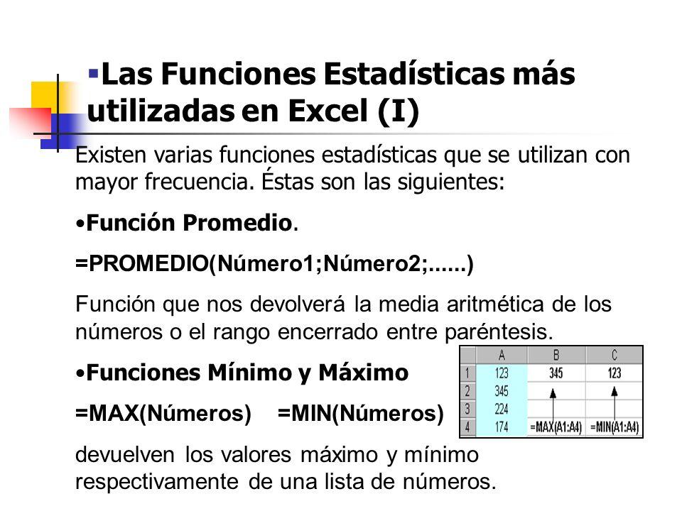 Las Funciones Estadísticas más utilizadas en Excel (II) Función Moda.