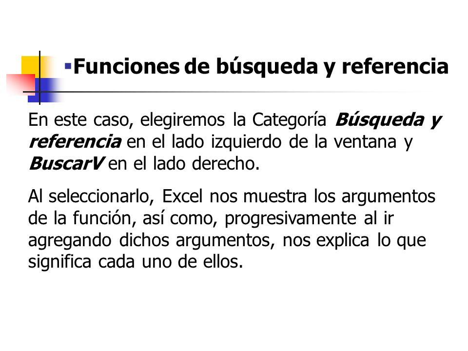 Funciones de búsqueda y referencia Cómo encontrar la Función BUSCARV
