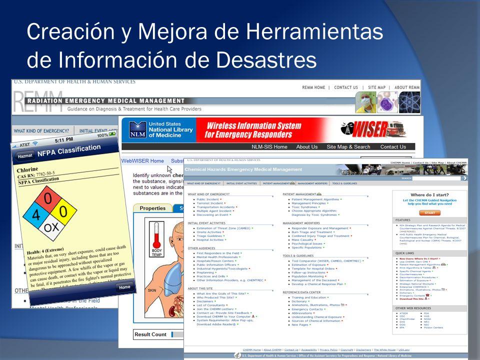 Creación y Mejora de Herramientas de Información de Desastres