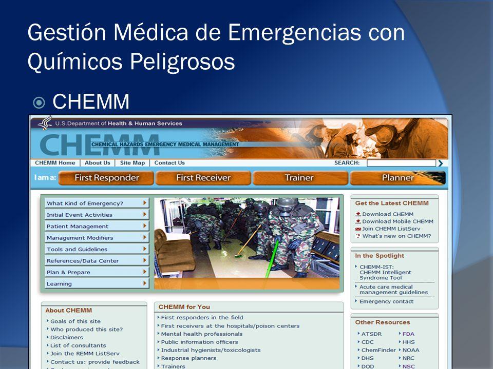 Gestión Médica de Emergencias con Químicos Peligrosos CHEMM