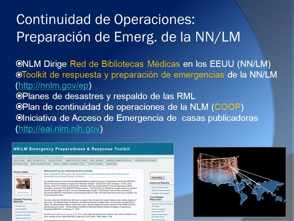 Continuidad de Operaciones: Preparación de Emerg.