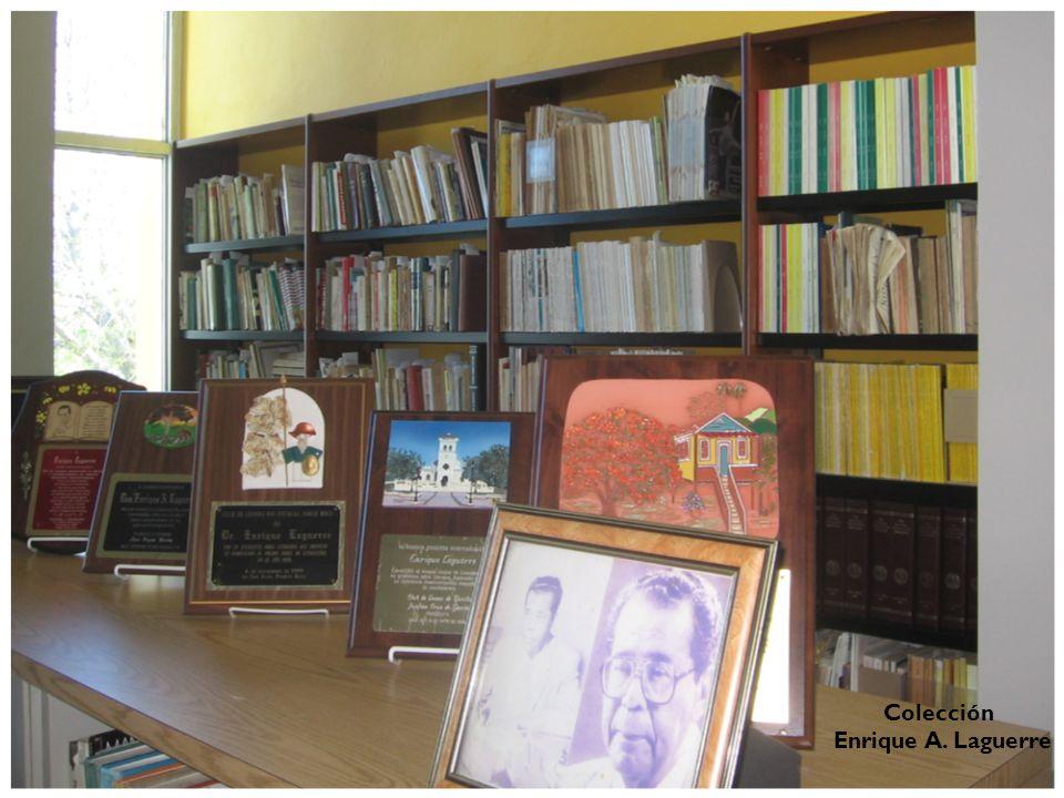 Colecciones Especiales La Biblioteca cuenta con dos colecciones especiales: la Biblioteca personal del escritor Enrique A. Laguerre y la Colección Agu