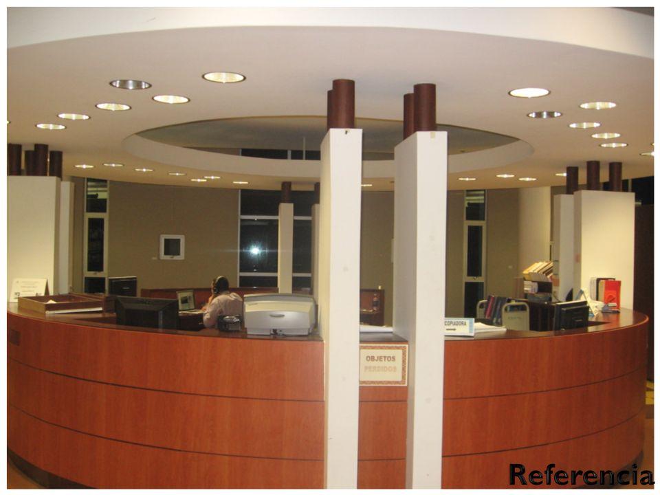 Colección de Referencia Se encuentra ubicada en el primer piso de la Biblioteca. La colección está compuesta por obras generales y especializadas en t