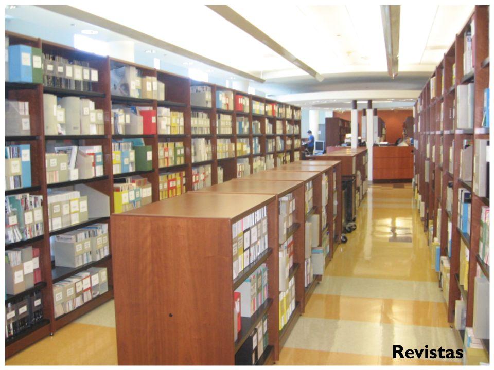 Colección de Revistas Se encuentra ubicada en el primer piso de la Biblioteca. La colección incluye una selección de revistas impresas y electrónicas
