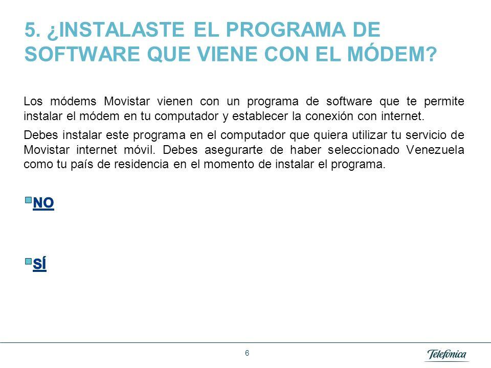 Área Razón Social 46 Nota: para modificar estas opciones de configuración debe estar conectado el módem a la computadora pero no debe estar conectado el módem a internet.
