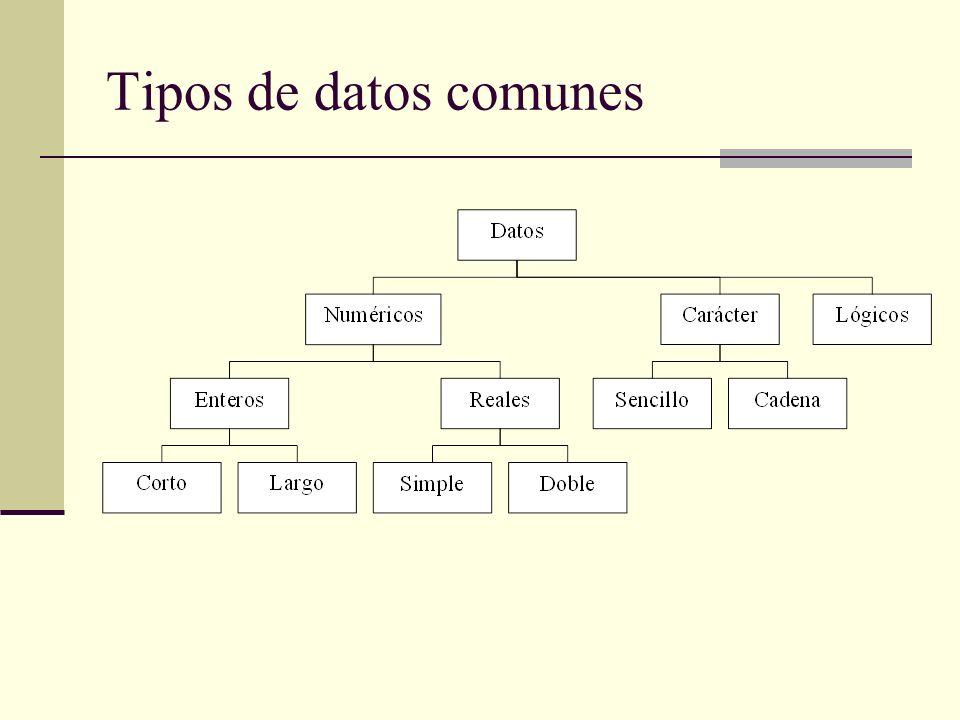 Tipos de datos comunes