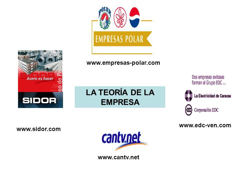 LA TEORÍA DE LA EMPRESA www.edc-ven.com www.empresas-polar.com www.cantv.net www.sidor.com