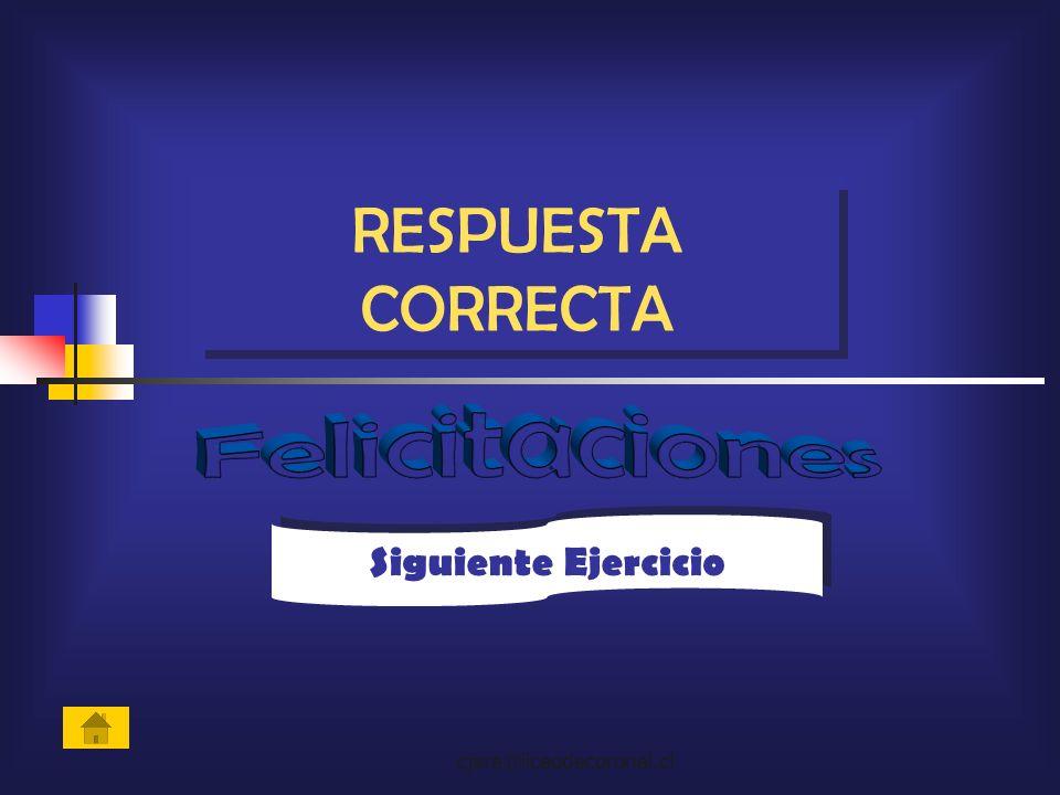cjara@liceodecoronel.cl Siguiente Ejercicio RESPUESTA CORRECTA