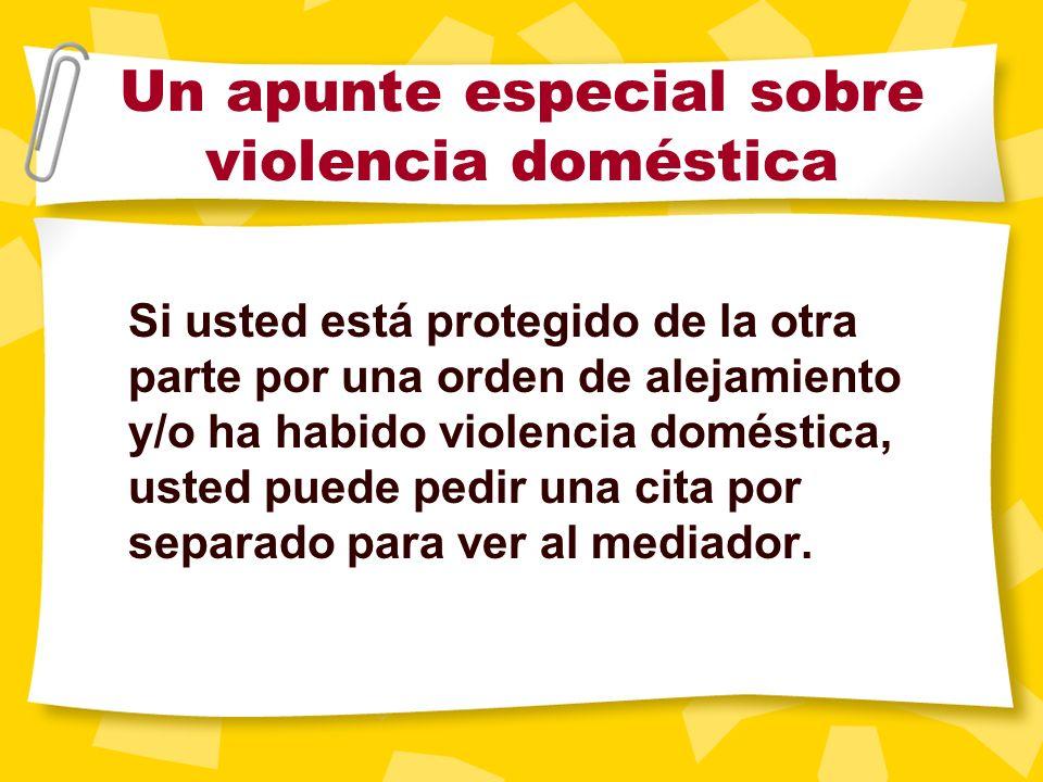 Un apunte especial sobre violencia doméstica Hay reglas que el juez debe observar al conceder la custodia si se determina que ha habido violencia. Si