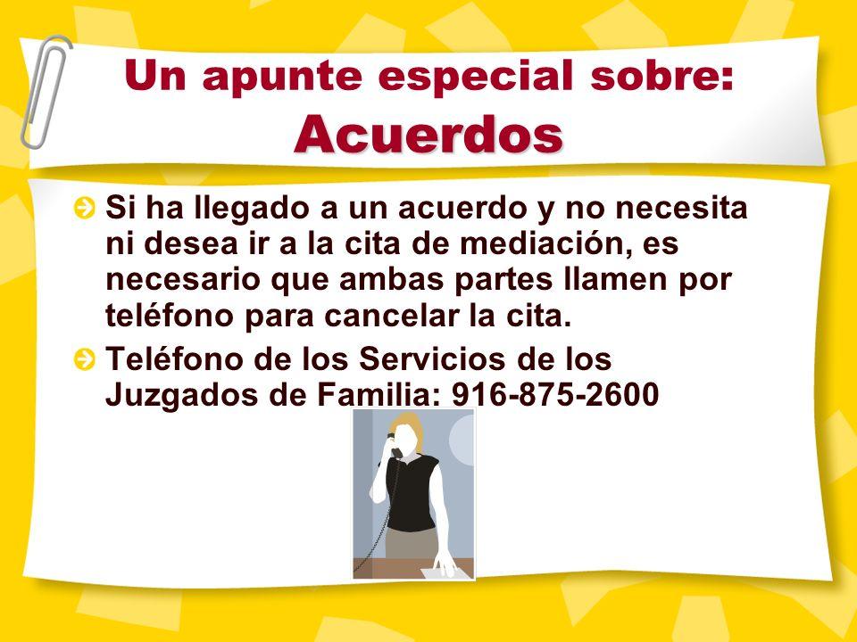 Asuntos especiales Niños y divorcio Cooperación de los padres Seguridad durante la mediación Servicios de protección al menor Preguntas frecuentes