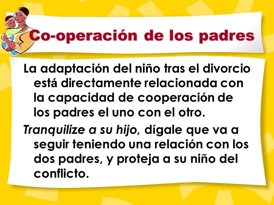 Niños y Divorcio El primer año tras la separación es crítico para los niños. Puede que los padres estén más distraidos y cambien las rutinas. Todos, h