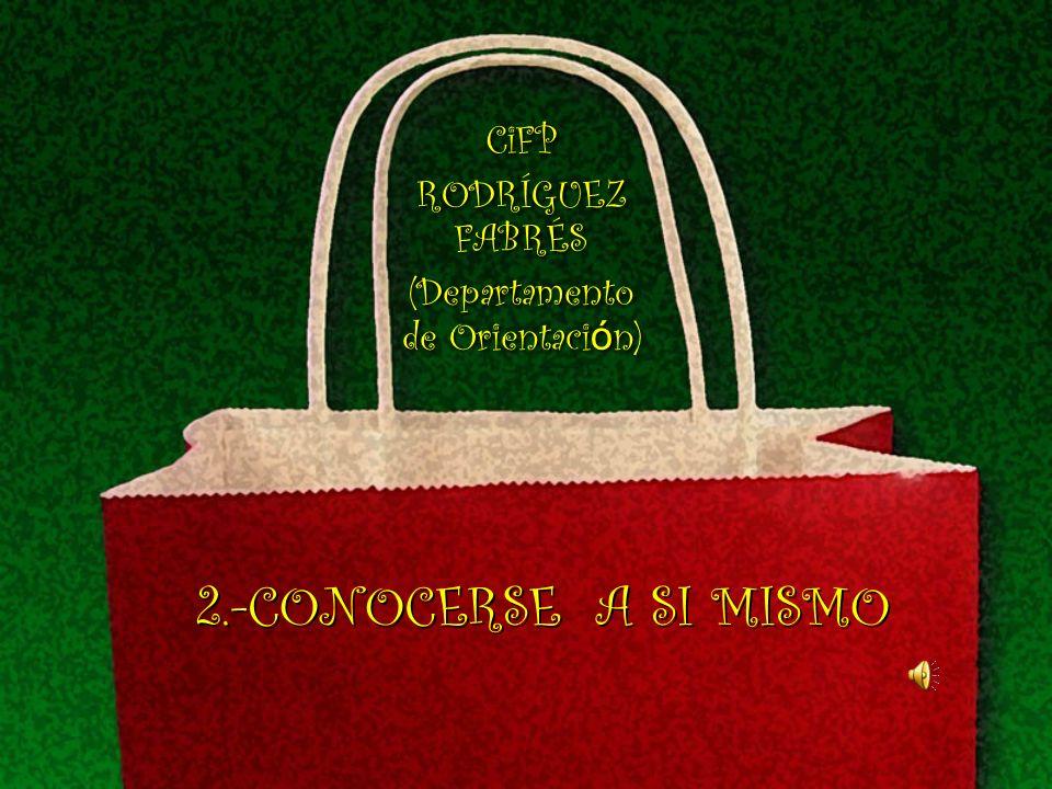2.-CONOCERSE A SI MISMO CiFP RODRÍGUEZ FABRÉS (Departamento de Orientaci ó n) CiFP RODRÍGUEZ FABRÉS (Departamento de Orientaci ó n)
