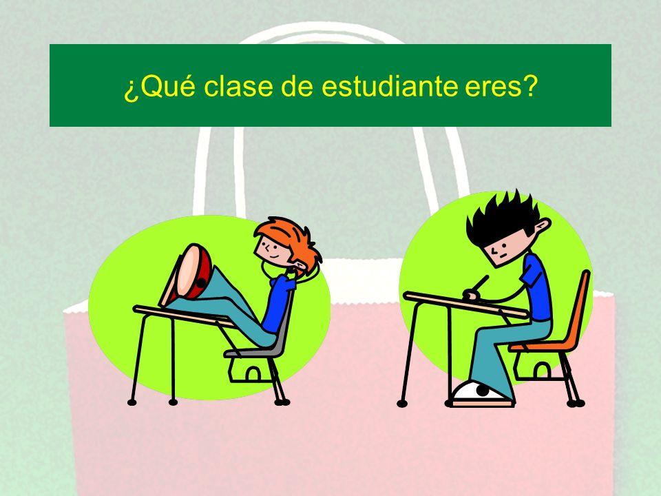 ¿Qué clase de estudiante eres?
