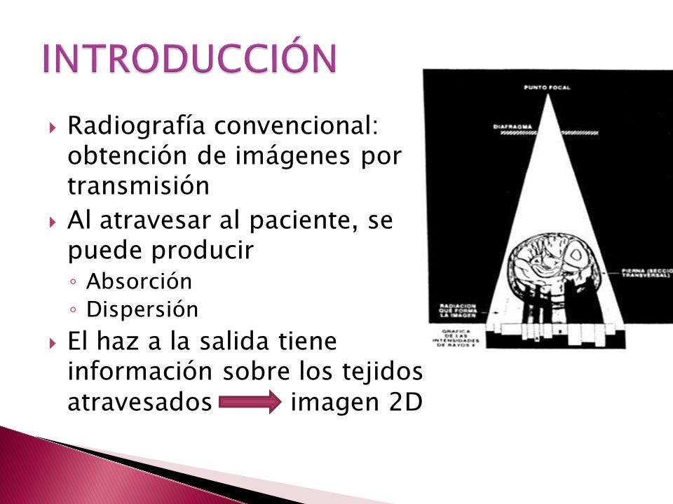 Introducción El espectro de rayos X Factores que modifican la forma del espectro Radiación dispersa.