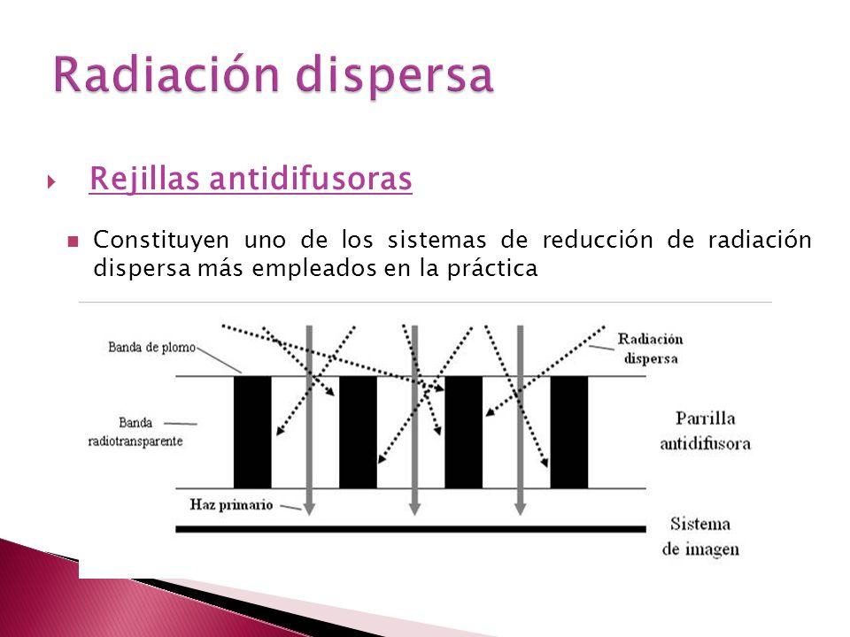 Rejillas antidifusoras Constituyen uno de los sistemas de reducción de radiación dispersa más empleados en la práctica