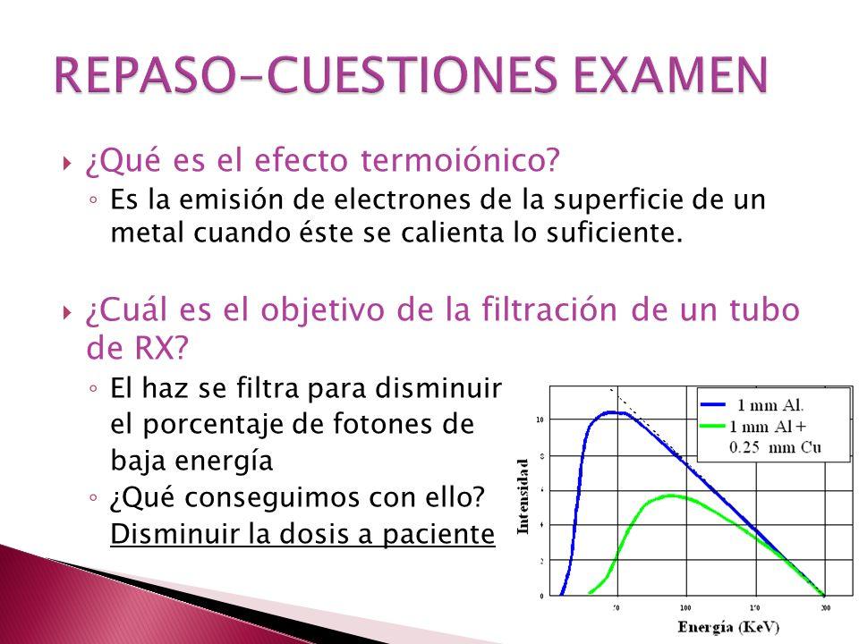 ¿Qué es el efecto termoiónico.