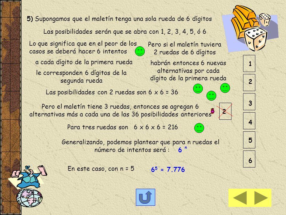 4) Cada asignatura puede ocupar una posición, las posibilidades son GAC P 3 = 3 ! = 6 Pero el orden de los problemas de cada materia también pueden ca