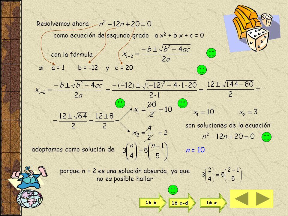 desarrollamos las expresiones factoriales hasta que queden en condiciones de poder simplificarse Haciendo pasajes de divisores como factores y vicever