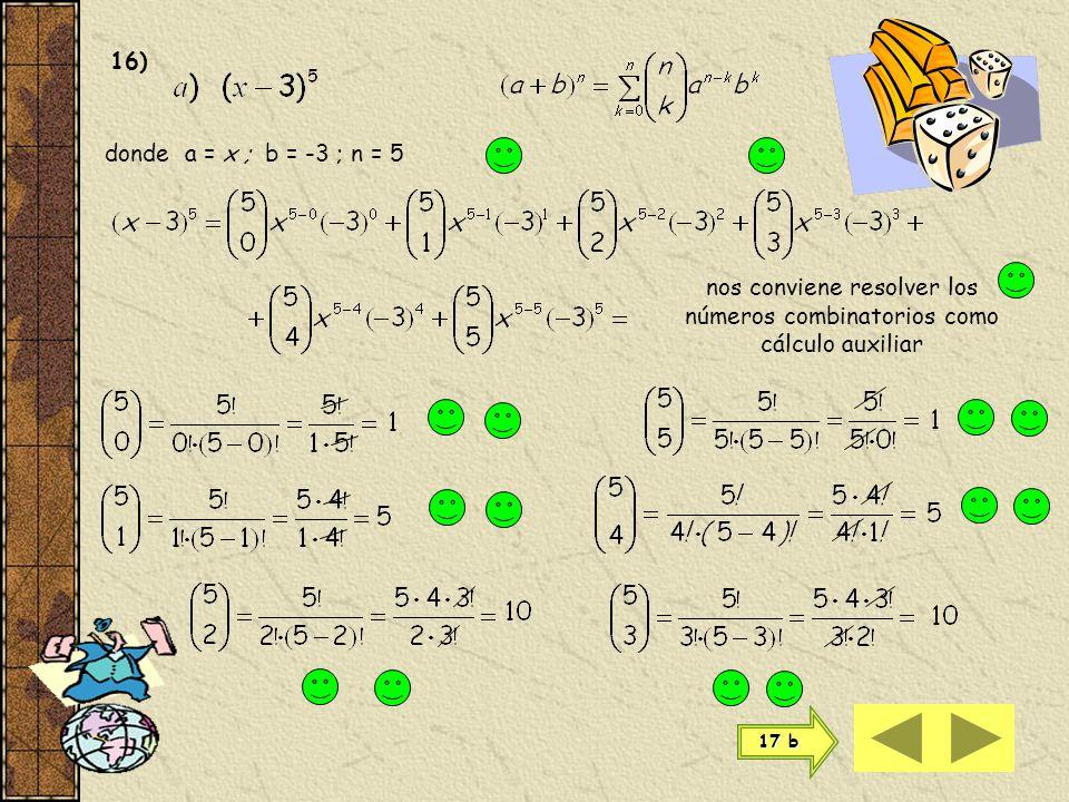 El desarrollo de la potencia de un binomio se escribe 11 n n Los números combinatorios equidistantes en el desarrollo del binomio de Newton son iguale