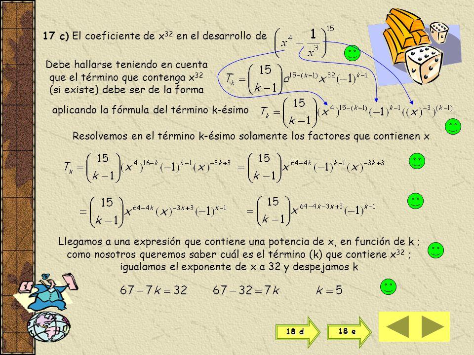 Hallamos entonces el 5º y el 6º término para donde a = 3 x b = -2 y n = 9 y k = 5 ahora a = 3 x b = -2 y n = 9 y k = 6