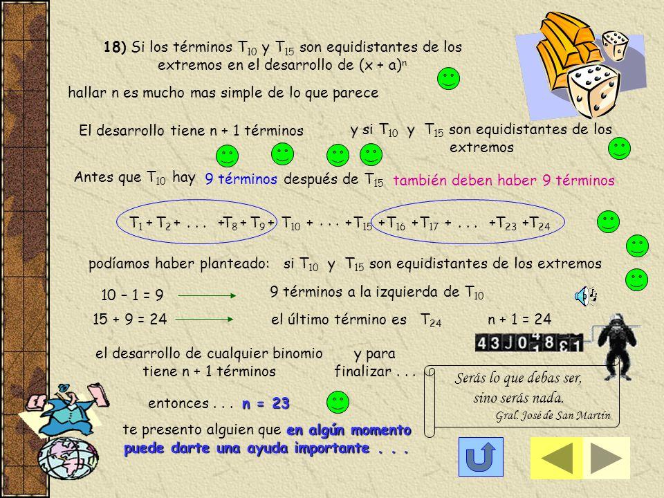 17 e) Para hallar el término que contiene a -35 en y estudiamos en particular los factores que contienen a planteamos... La potencia del denominador p