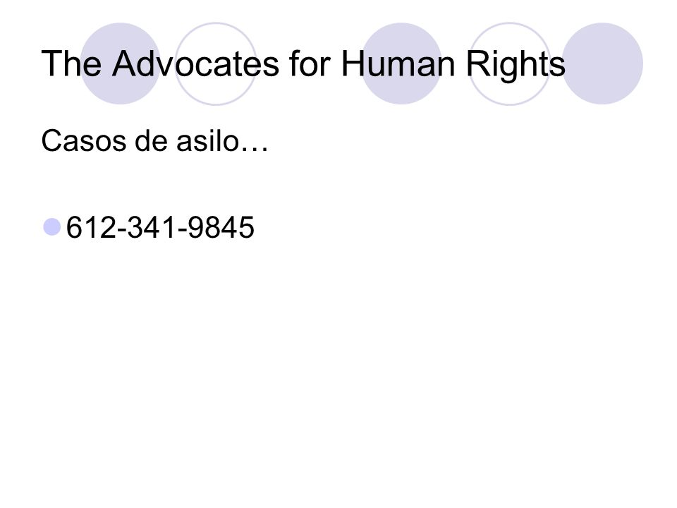 The Advocates for Human Rights Casos de asilo… 612-341-9845