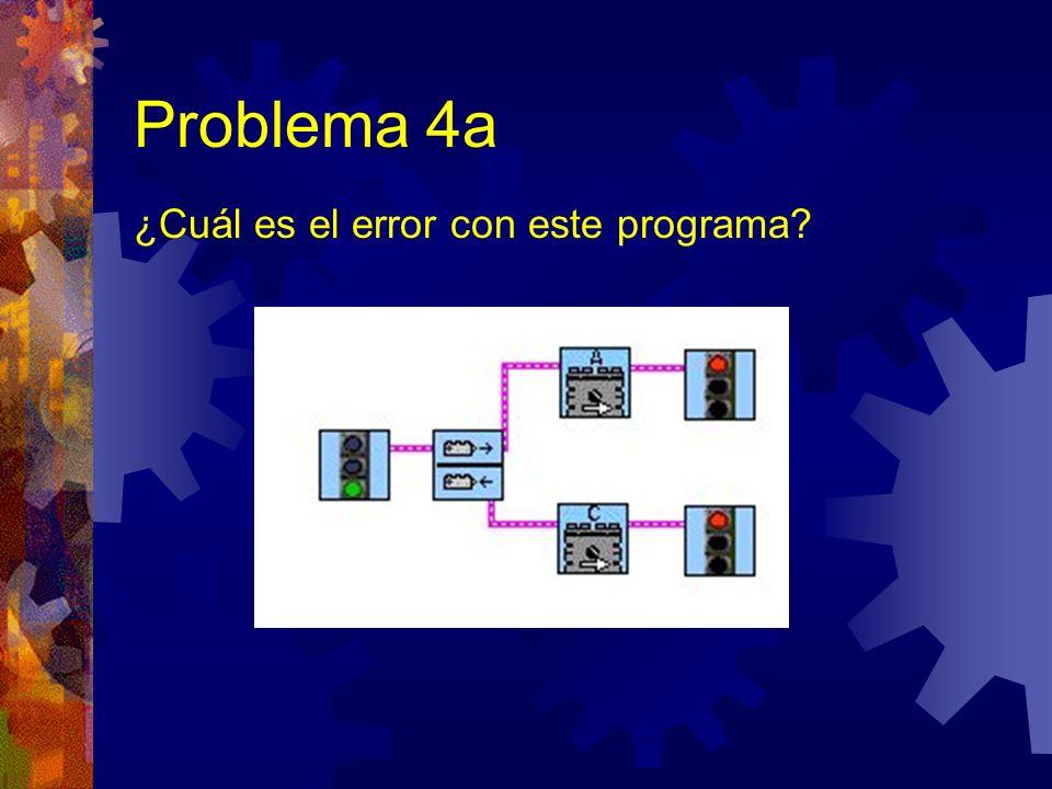 Problema 4a ¿Cuál es el error con este programa?