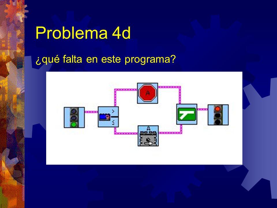 Problema 4d ¿qué falta en este programa?